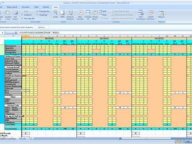 Excel template creation project - 3