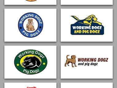 Logo - Working dogz & pig dogz