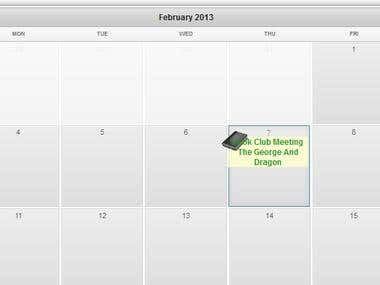jquery / php meeting scheduler for book club