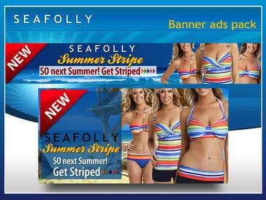 Seafolly web banner ads pack