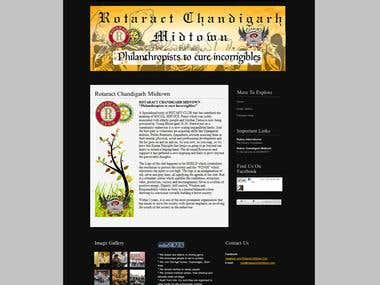 Website Design and Development for Rotaract