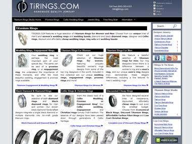 A jewelry website