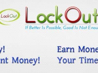 LockOut Inc. Banner & Logo.