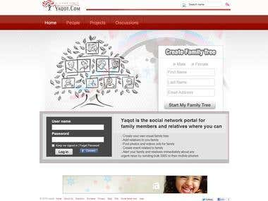 http://www.yaqot.com/ ( social networking + family tree )