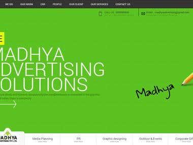 Madhya Advertising Website