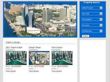 Dreamscape Dubai - Real Estate Website