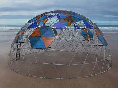 Geodesic Dome with rope course elements