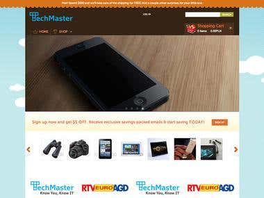 Online Shop and QR-Bar Code reader iOS app
