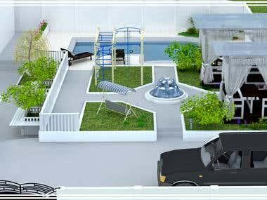 3ds Max (landscape design, interior design)