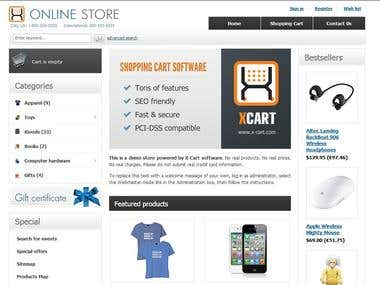 X- Cart Ecommerce Website Development