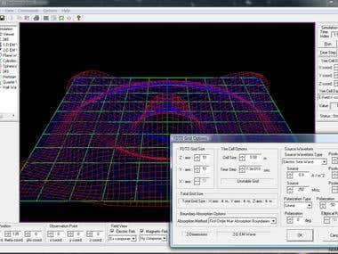 C++ program, electromagnetic simulator