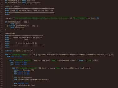 Auto install batch script - multiple programs