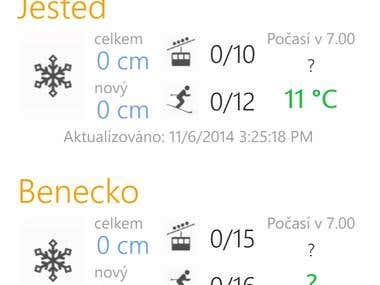 Windows Phone app - Snow