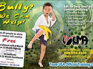 Advertisement for United Martial Arts