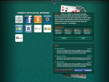 Poker game landing