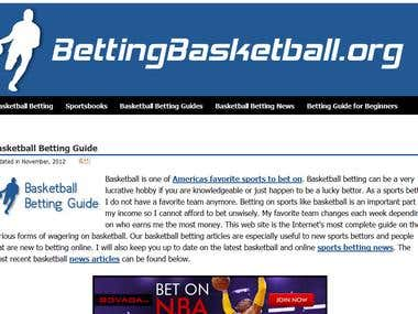News articles about Sports betting [basketball-Betting]