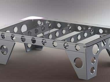 Aviation Inspired Coffee Table
