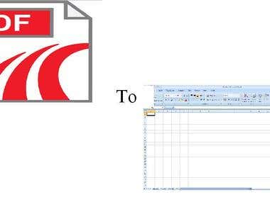 Data Entry from PDF to Excel