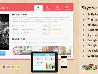 Skydreamer HTML5 responsive vCard