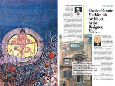 Magazine article layout