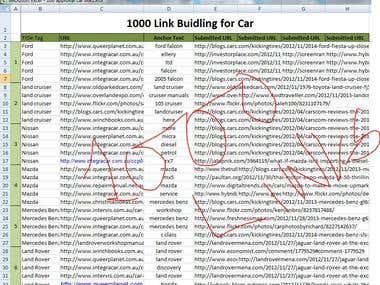1000 Link building