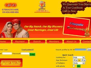 www.vinayakamarriage.com