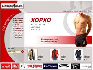 Website (psd layout)