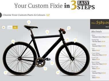 Justrideit Bike Custom Fixie Web App