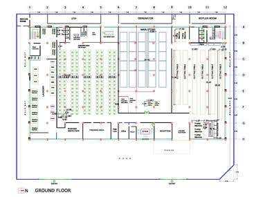 Floor Plan Layout, Machine Layout