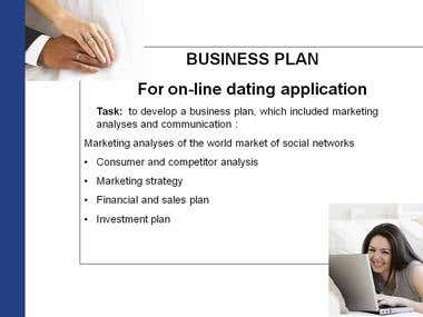 BUSINESS PLAN For on-line dating application