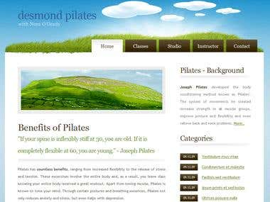 Desmond Pilates Web Design