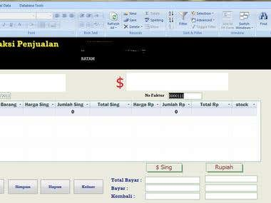 Make Sales and return applicatioun used MS Acces