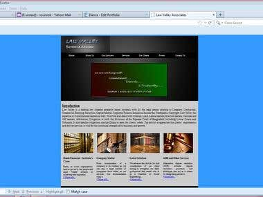 A law firm web site.