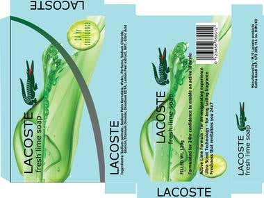Package Design LACOSTE