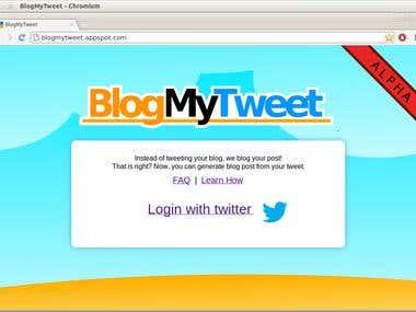 BlogMyTweet