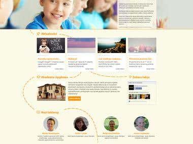 Strona internetowa Akademia Językowa