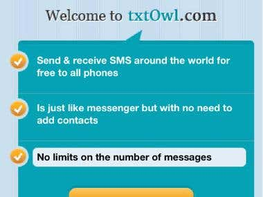 txtOwl Iphone, Android and Windows Phone Application