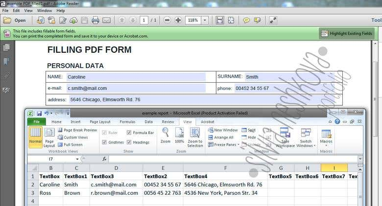 Fillable PDF forms | Freelancer