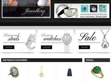 Ecommerce jewellery  website
