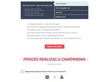 Motocontroler - projekt graficzny strony internetowej