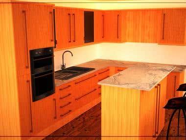 Interior Rendering: Kitchen