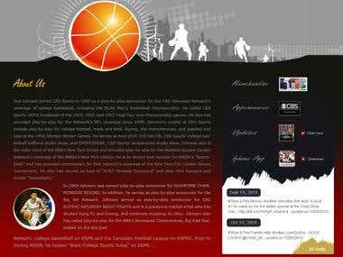 Sports Web Page