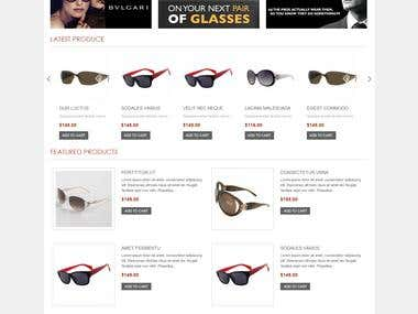 For Sale! - Ecommerce Eye Glasse Store w/ shopping cart