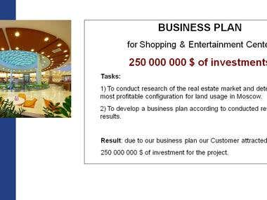 Business Plan for Shopping Center ($250M raised)