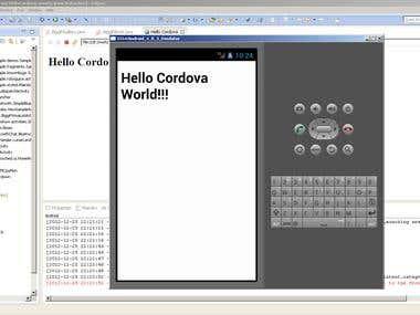Phonegap App running in Android Emulator