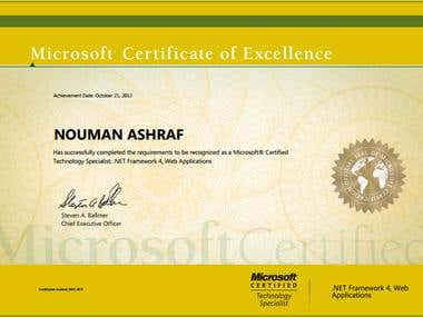 MCTS Certificate