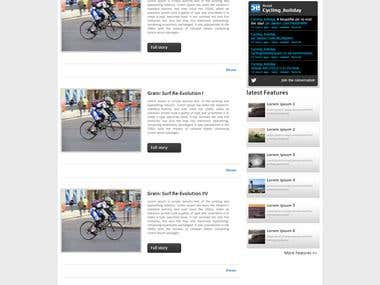 Cycling Holiday Spain - Wordpress CMS