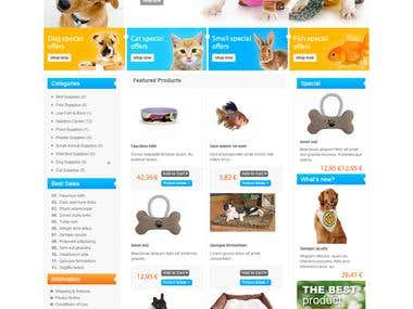 For Sale - Ecommerce Pet Store w/ Shopping Cart
