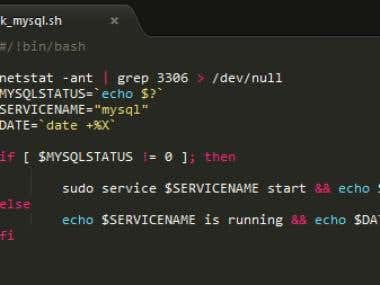 Shell script - check and start services