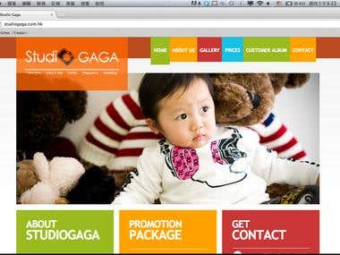 Web Design & Programming Sample - Studio Gaga